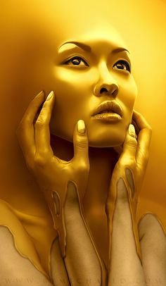 """ #Gold rush"", digital art by Michael Oswald."