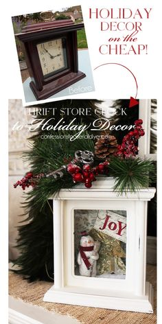 Turn an old clock into Holiday Decor!