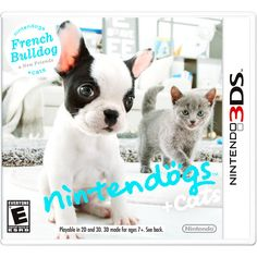 The Best Nintendogs + Cats: French Bulldog and New Friends (Nintendo - Nintendogs + Cats: French Bulldog and New Friends puts puppies in the palm of your hand on your Nintendo system. The game features even cuter and more expressive puppies Playstation, Xbox, Mario Kart, Cry Anime, Anime Art, Best 3ds Games, Wii Games, Jeux Nintendo 3ds, Nintendo Games