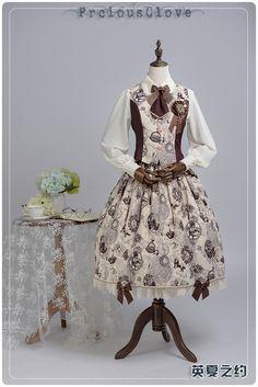 Precious Clove -Romantic Date- Lolita Skirt