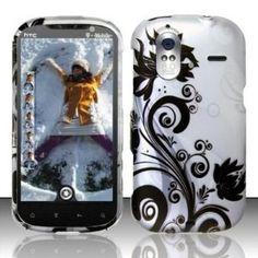 HTC Amaze 4g T-Mobile Accessory - Silver/black Flower & Vines Design Case Protective Cover (Wireless Phone Accessory)  http://www.amazon.com/dp/B007528X5U/?tag=heatipandoth-20  B007528X5U