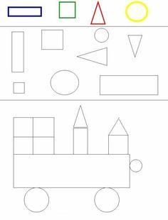 die formen lernen kreis rechteck quadrat dreieck art special needs vorschulideen. Black Bedroom Furniture Sets. Home Design Ideas