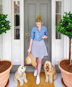 Being greeted by pups Gus and Sully at 86 Cannon in Charleston, SC! On the blog!