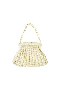 1930s Crocheted Frame Bag With Linked Strap
