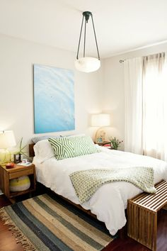 Alison's Collected and Curated Apartment House Tour | Apartment Therapy - love the photo above the bed