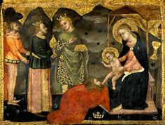 Adoration of the Magi by Paolo Serafini di Modena from the third quarter of the XIVth c.
