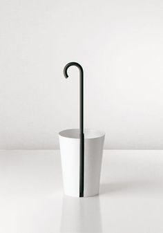 Metal umbrella stand BINCAN by Naoto Fukasawa Danese