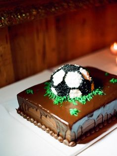 Southern Traditions: The Groom's Cake - Southern Weddings Magazine Soccer cake photo by Ali Harper via Southern Weddings
