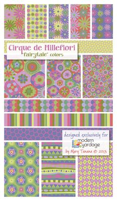 """""""Fairytale"""" colorway-Cirque de Millefiori Collection -by Mary Tanana…"""