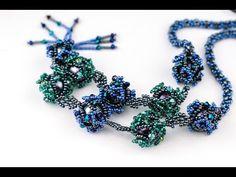 Ожерелье из оплетённых бусин.(Часть 2/2) - YouTube