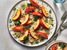 This Quick Nectarine and Bulgur Salad Is the Perfect Summer Side — Cooking Light Bulgur Salad, Lentil Salad, Couscous, Tortellini, Slow Cooker Huhn, Cooking Recipes, Healthy Recipes, Healthy Salads, New Recipes