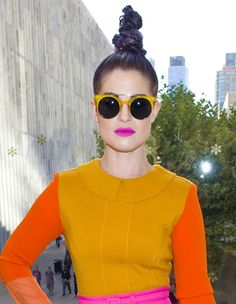 Kelly Osbourne recently polarised opinion with her tall purple topknot. #fashion #hair