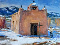 Western Christmas, Southwestern Art, Mexico Art, Mexican Artists, Christmas Paintings, Small Art, Beautiful Artwork, Art And Architecture, Watercolor Art