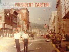 Nov 1979 President Carter visits Steubenville Ohio.  I remember what a big deal this was!
