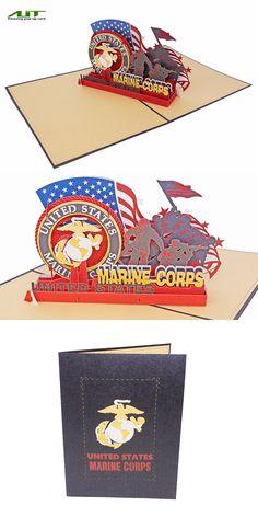 AITpop USA Marine pop up card