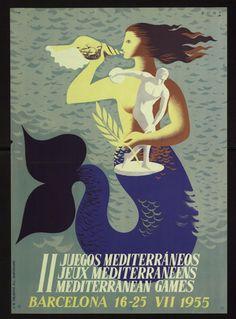 """II Juegos Mediterráneos = Jeux Méditerranéens = Mediterranean Games : Barcelona 16-25 VII 1955"" Courtesy of the Biblioteca de Catalunya (http://www.bnc.cat). (Rights Reserved - Free Access) http://www.europeana.eu/portal/record/91906/E834DA3BFEAFA1A053F342B3A5F329B79E11A4CC.html"