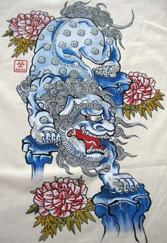 Okinawa Japanese Shisa Lion Ronin T Shirt M Cream BNWT | eBay