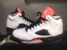 f2b604f086 NIKE Air Jordan 5 Retro GG White/ Sunblush Black 440892 115 Size 6Y New/  Box Top #fashion #clothing #shoes #accessories #kidsclothingshoesaccs  #boysshoes ...
