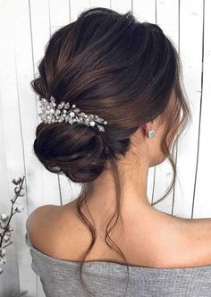 Gorgeous wedding hairstyles for the elegant bride - gorgeous weddings . - Gorgeous wedding hairstyles for the elegant bride – Gorgeous wedding hairstyles for the elegant b - Long Hair Ponytail, Prom Hairstyles For Long Hair, Braids For Long Hair, Elegant Wedding Hairstyles, Bridesmaid Hairstyles, Beautiful Hairstyles, Hairstyles For Dresses, Updos For Wedding, Bridal Hair Updo Elegant