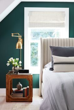 This eclectic master bedroom by Will of Bright Bazaar gets recreated for less by copycatchic luxe living for less budget home decor and design daily finds home trends and room redos Interior, Home Decor Bedroom, Home Bedroom, Home Decor, Eclectic Master Bedroom, Beach House Bedroom, Eclectic Bedroom, Green Bedroom Walls, Emerald Green Bedrooms