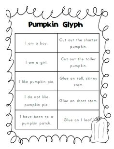 another cute pumpkin glyph freebie - Halloween Glyphs