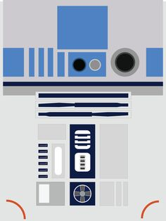 R2-D2 Filmplakat Star Wars digitale A4 von PotterPosters auf Etsy