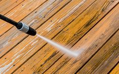 Wood #decks require A LOT of upkeep to stay usable. Follow these tips to lengthen your deck's life. #homeimprovement #diy Backyard Paradise, Home Improvement, Bring It On, Deck, Wood, Madeira, Woodwind Instrument, Front Porches, Decks