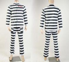 SKYCOSTUME Batman Gotham 2 Penguin Oswald Cobblepot B-113 Arkham Prison Uniform Cosplay Costume