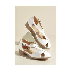 Another of Life's Gait Mysteries Flat ($27) ❤ liked on Polyvore featuring shoes, flats, ballet flat, flat, white, vegan ballet flats, white ballet flats, white ballerina shoes, flat shoes and ballerina pumps