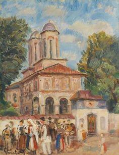 Holiday at Horezu - Dumitru Ghiatza Post Impressionism, Art Database, Mother Earth, Romania, Holiday, Painting, Artworks, Vacations, Painting Art