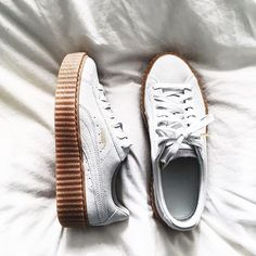 The Internet premier Sneaker Shop. We carry all the latest and trending sneakers. The one stop shop for all your sneakers needs. Puma Suede Platform, Platform Sneakers, Sock Shoes, Cute Shoes, Me Too Shoes, Puma Sneakers, Shoes Sneakers, Rihanna Sneakers, Sneakers Fashion