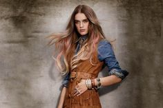 Frontier Sunset hair color for fall