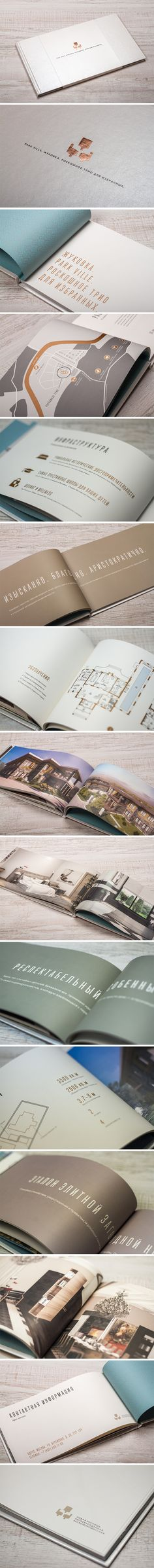 "Premium booklet with real estate offerings of the ""Park Ville"" housing development. #brochure #EstateBrochures #RealEstateAgents"