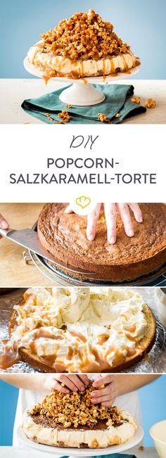 Gönn dir was: Cremiges Vanilleeis übergoßen mit süßer Karamell-Sauce zwischen fluffigem Biskuitboden, gekrönt mit einem Berg aus knusprigem Popcorn.