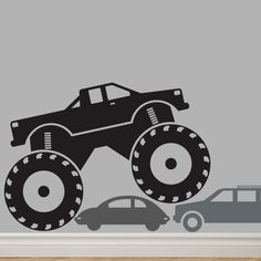 MONSTER Truck Custom Decal YOUR NAME Original Graphics by DECOmod Walls. $20.00, via Etsy.