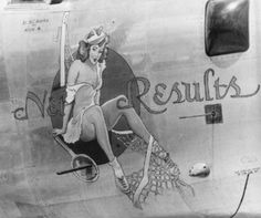 WWII   SIG-0302-Y Consolidated B-24 Liberator Pinup Girl Metal Aviation Sign