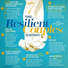 Things Resilient Couples Do Differently - Relationships