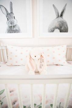 Bunny-Inspired nursery nursery baby girl baby girl nursery t Bunny Nursery, Nursery Room, Nursery Decor, Nursery Ideas, Bunny Room, Baby Room Themes, Baby Girl Nursery Themes, Nurseries Baby, Baby Girl Nursery Pink And Grey