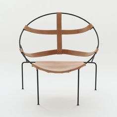 FDC 1 Lounge Chairs in leather and laquered iron