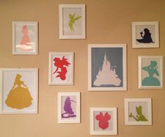 Disney+Princess/Character+Silhouettes+Collage+by+SewciallyAccepted,+$100.00