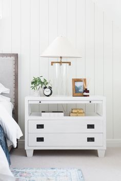 Nightstand Styling - Soft traditional bedroom inspiration