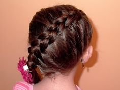 Shaunell's Hair: Little Girl's Hairstyles -Angled inside out French Braid 5-7 min