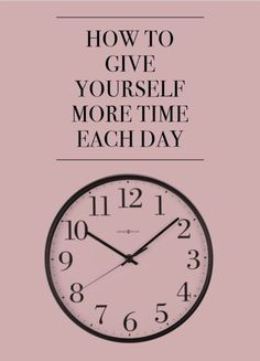 How to Give Yourself More Time Each Day | eBay