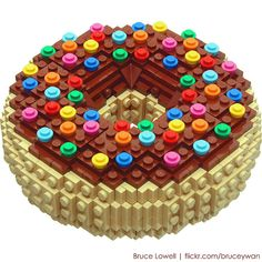 LEGO Doughnut by Bruce Lowell via Flickr. Because he can, that's why... ;) #autism #aspergers