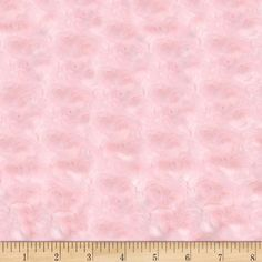 Minky Rose Cuddle Baby Pink from @fabricdotcom  This ultra plush and cuddly fabric has a silky surface with rosette embossing. 12 mm pile, 600 grams and is perfect for creating blankets, baby accessories, plush toys, and more!