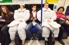 Introducing the duvet suit, for people who love their bed too much
