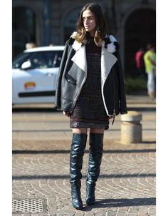Le blouson masculin - Comment s'habiller quand il fait froid: les astuces des filles stylées pour être couvertes sans en avoir l'air - Elle