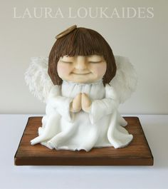 """""""Alice the Christmas Angel""""  Cake by Laura Loukaides www.facebook.com/LauraLoukaidesCakes"""