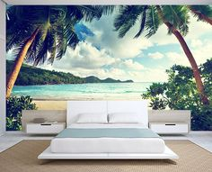 A beautifully peaceful wall mural for summer all year round! - www.wallpaperink.co.uk