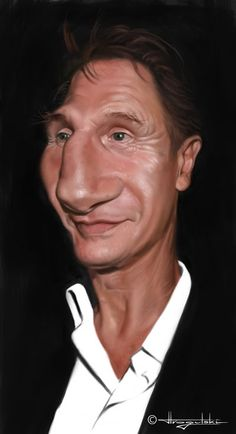Liam Neeson Funny Caricatures of Celebrities by Patrick Strogulski Liam Neeson, Cartoon Faces, Funny Faces, Cartoon Art, Caricature Artist, Caricature Drawing, Funny Caricatures, Celebrity Caricatures, Portraits